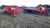 Choice of 2 x 25ft bale trailers (677)