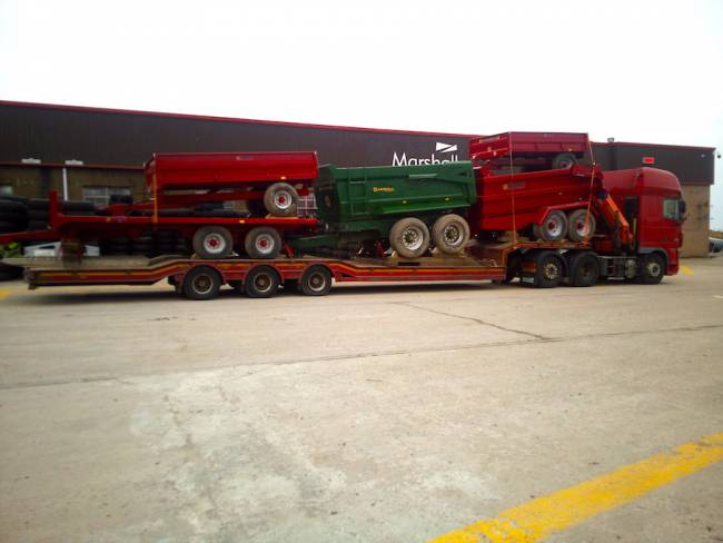 A load of refurbished trailers on their way to Devon!