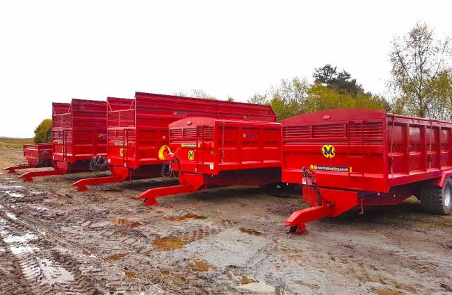 A large variety of types of trailers available