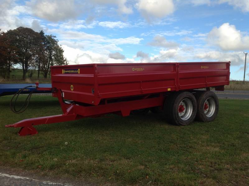 10 Tonne Marshall dropside trailer (214)