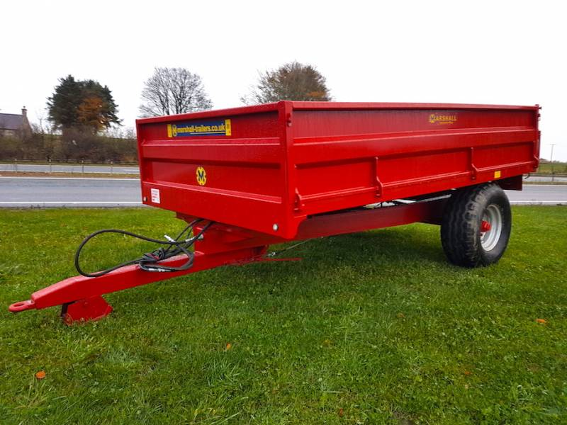 5 Tonne Marshall Dropside Red Trailer (353)