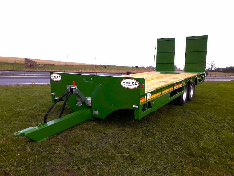 CHOICE OF TWO LOW LOADERS - Green 24ft 19 Tonne Low Loader (517) - WE ARE THE MAIN AGENT FOR MCKEE IN THE NORTH EAST OF SCOTLAND!