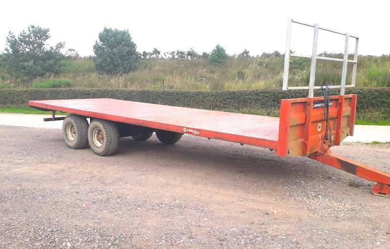 25ft Marshall bale trailer (629)