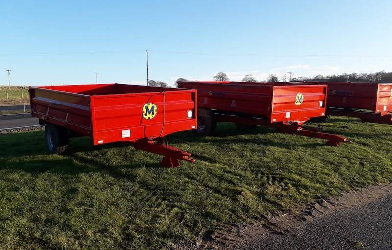 Dropside trailers - from left to right - 4 tonne, 5 tonne then 6 tonne (662)