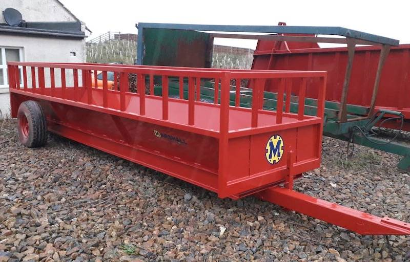 Feed Trailers Made To Order - 20ft long, 8ml plate on the floor, very strong (665)