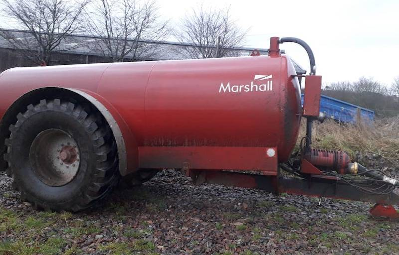 Marshall 2000 gallon slurry tanker with autofill 2018 model (670)