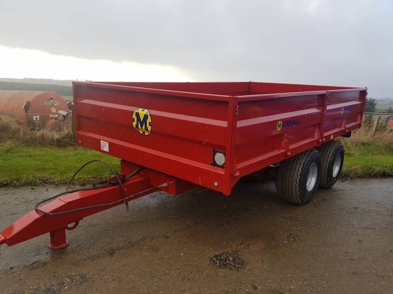10 Tonne Dropside Trailer on 15.5 flotation tyres, 14ft long (687)