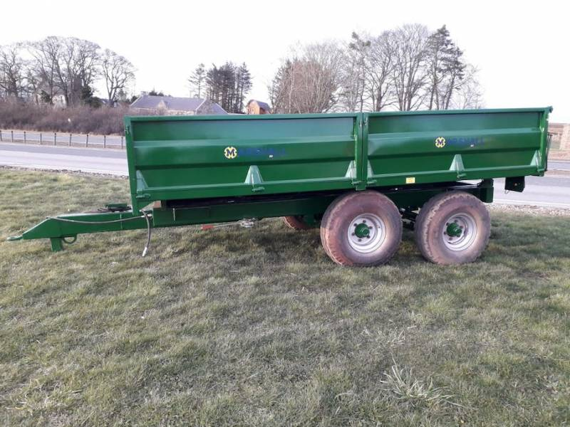 8 Tonne Dropside Trailer, new running gear, new rams (697)