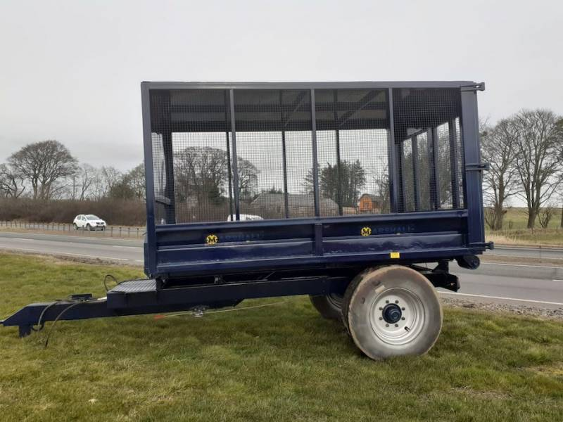 Cage Trailer - Ideal Trailer for horses muck or garden waste, 12 ft long (702)