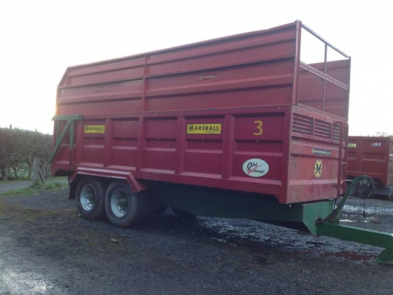 Marshall 14 tonne silage trailer (34)